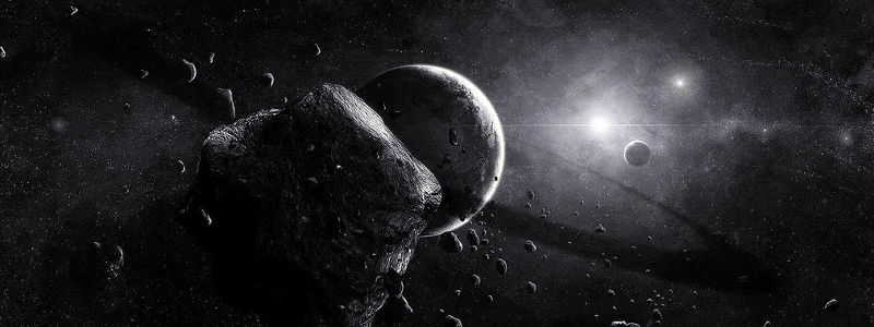 Asteroid Space Scene